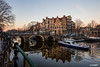 politie (alamsterdam) Tags: amsterdam earlymorning policeboat brouwersgracht papeneiland bridge reflection boats cars bikes cafepapeneiland