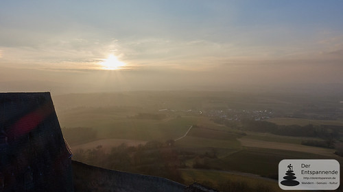 Sunset at donjon of Otzberg Castle