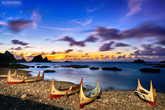 (Moson Kuo) Tags: ocean longexposure travel sea seascape nature beautiful sunrise landscape boats nikon scenery glow taiwan   ultrawide  hdr township taitung lanyu       2015 orchidisland               ponsonotao   d800e afs1424mm28g   fireofclouds