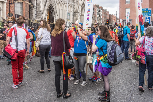 DUBLIN 2015 LGBTQ PRIDE FESTIVAL [PREPARING FOR THE PARADE] REF-106223