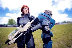 Mass Effect: Garrus & Shepard (tonicnebula) Tags: photography cosplay shepard 2015 bioware crossplay masseffect colossalcon videogamecosplay commandershepard garrus garrusvakarian