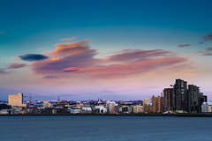 Around midnight - Reykjavik City, Iceland (Pll Gujnsson) Tags: longexposure sunset summer skyline clouds evening iceland cityscape reykjavik highrise vista seasky ndfilter ndgrad zeissplanartf1485mmze leelittlestopper