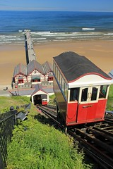 Saltburn by the Sea 09-06-2015 (Karen Roe) Tags: camera uk greatbritain england cliff beach june female digital canon photography coast pier photo seaside flickr photographer lift shot image unitedkingdom picture railway visit snap tourist coastal photograph gb dslr visitor tramway funicular 2015 saltburnbythesea 550d karenroe canoneos550d