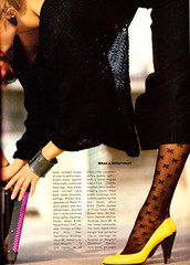 """Vogue """"What a Difference!"""" March 1983 (barbiescanner) Tags: vintage retro vogue 1983 arthurelgort 80sfashions 80sshoes"""