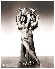 Twin Egyptian Dancers - Cairo in 1950's (Tulipe Noire) Tags: africa portrait dancers egypt middleeast twin cairo 1950s egyptian egyptiandancing