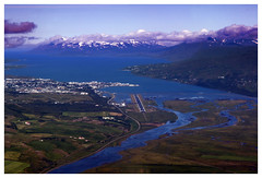Gripen pilot view to Akureyri II
