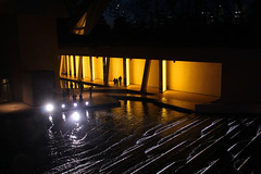 Fondation Louis Vuitton (Toni Kaarttinen) Tags: paris france art water yellow museum architecture night lights evening louis frankreich frana frankrijk prizs francia iledefrance vuitton parijs parisian pars louisvuitton  parigi boisdeboulogne frankrike fondation  pary   francja ranska pariisi  franciaorszg  francio parizo  frana fondationlouisvuitton
