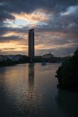 Reflexion (Santi222) Tags: ro puente sevilla agua barco reflejo triana