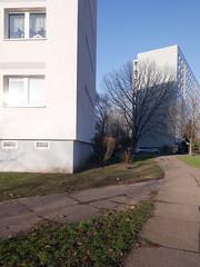 Die Sonne. / 05.12.2016 (ben.kaden) Tags: berlin marzahn brunobaumstrase plattenbau architekturderddr architektur 2016 05122016