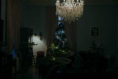 En attendant Noël (Meculda) Tags: salon lampe noël sapin canapé château lunette fenêtre interieur