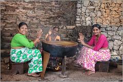 Welcome! (Mabacam) Tags: asia southasia srilanka ceylon dambulla amayalake kandalamalake women drum drumming welcome