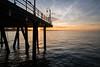 Santa Monica Pier at Sunrise (Kurt Lawson) Tags: 25mm batis beach clouds losangeles ocean pacific pier santamonica silhouette sky sunrise venice zeiss