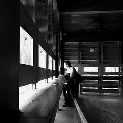 Streetphotography Streetphoto_bw Candid Indoors  Window Day One Person Blackandwhite Monochrome Light And Shadow Contrast Leading Lines Composition View Outside Light And Dark Wooden House Countryside Portrait Side View (Eugene Kong) Tags: streetphotography streetphotobw candid indoors window day oneperson blackandwhite monochrome lightandshadow contrast leadinglines composition view outside lightanddark woodenhouse countryside portrait sideview