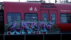 Graffiti in Copenhagen 2016 (kami68k -all over-) Tags: copenhagen kopenhagen 2016 graffiti illegal bombing dsb train bunt salo hm