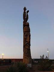 Whispering Giant (jimmywayne) Tags: winslow arizona navajocounty petertoth whisperinggiant carving statue indian art