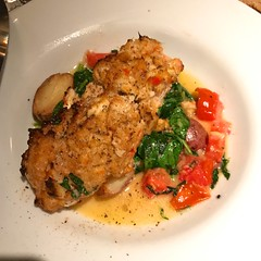 Grouper and veggies (LarryJay99 ) Tags: eatery food meal photostream westpalmbeach okeechobeesteakhouse florida