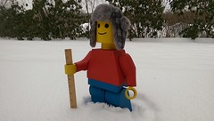 IMAG1063 (defarijf) Tags: silhouette sitting skill standing symbol wood wooden work lego technic woody rouge visage portrait legos people man blue green field fence outdoor yard red yellow winter snow fall ruler hat