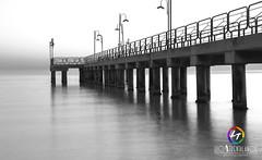 (Luca3803) Tags: italia suditalia mare lungomare pontile pontili biancoenero bianco nero lampione lampioni italy sea seafront pier piers blackandwhite white black lamp lampposts lamppost lamps streetlamp