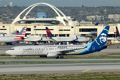Alaska Airlines Boeing 100 Years Strong Livery 737-900 (N248AK) LAX Taxiway H  (2) (hsckcwong) Tags: alaskaairlines boeing100yearsstrong boeing100yearsstronglivery n248ak 737900er lax