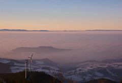 Inundated (oliko2) Tags: inundated clouds freiburg city mountain sunset evening winter snow blackforest schauinsland schwarzwald d7100 sigma1750 f28 landscape panorama vosges germany