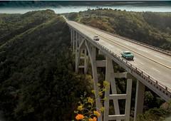 Cuba ..The Matanzas bridge (TONY VIKLICKY) Tags: cuba the matanzas bridge d40 dx polarizer nikon 2017 green landscape old cars chevy 1950 dodge