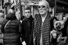 Doggy style!!! (Baz 120) Tags: candid candidstreet candidportrait city candidface candidphotography contrast street streetphoto streetcandid streetphotography streetphotograph streetportrait rome roma romepeople romestreets romecandid europe girl monochrome monotone mono blackandwhite bw noiretblanc urban voightlander12mmasph life leicam8 leica primelens portrait people unposed italy italia women grittystreetphotography faces decisivemoment strangers