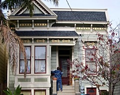 Victorian style wooden house in San Francisco (Tina K) Tags: hus trehus usa california