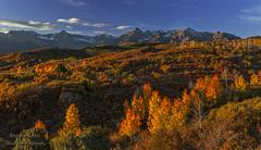 A Dallas Divide Autumn (rebeccalatsonphotography) Tags: autumn fall orange gold red sunrise mountains co colorado dallasdivide scenery landscape rebeccalatsonphotography