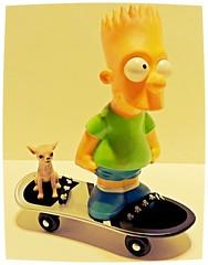 S Is For Skateboard (marilyntunaitis) Tags: sisforskateboard bartsimpson chihuahua