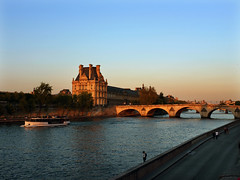 At the end of an afternoon (*CA*) Tags: sunset paris france seine louvre pontroyal