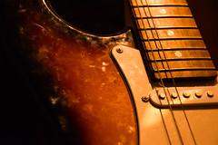 Old guitar [Explored 2015-06-14] (Maria Eklind) Tags: old music closeup guitar strata instrument rocknroll gammal oldguitar gitarr fotosondag fs150614