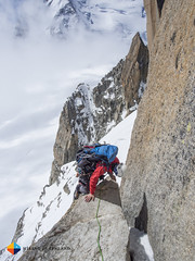 Almost there (HendrikMorkel) Tags: mountains alps mountaineering chamonix alpineclimbing artedescosmiques arcteryxalpineacademy2015