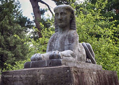 Sphinx (.annajane) Tags: ohio cemetery graveyard statue sphinx cincinnati tombstone gravestone gravemarker springgrovecemetery egyptianstyle