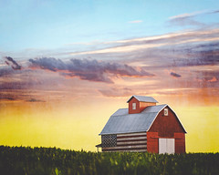 our flag was still there (stacyvitallo) Tags: sunset composite hss flagbarn skylove jessicadrossin slidersunday