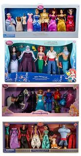 Disney Store Deluxe Doll Gift Sets 2012-2015 (Diamond Release Films)