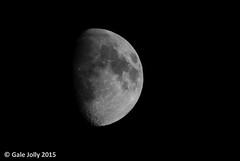 Moon - test shot (Gale's Photographs) Tags: moon craters tamron lunar nikond7000 tamron16300vr 16300vr