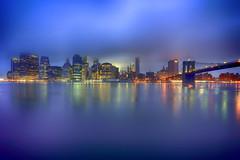 New York City (mudpig) Tags: newyorkcity blue newyork color reflection fog brooklyn skyscraper sunrise river outdoors photography dawn colorful cityscape manhattan foggy financialdistrict brooklynbridge license eastriver hdr horizonte gettyimages nuevayork fido orizzonte  2015 brooklynbridgepark  cidadedenovayork colorscape stevekelley    linhadohorizonte lignedhorizon ufukizgisi      thnhphnewyork   kakilangit   lavilledenewyork stevenkelley chntri  sylwetkanatlenieba  licensenow    latarlangit
