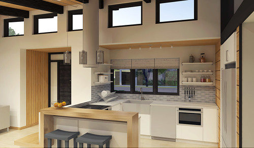 ... Sacramento State Solar Decathlon 2015 House Rendering: Interior 2 ...