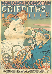 Cycles & Accessoires Griffiths by Henri Thiriet, 1898 (Andrea Speziali) Tags: fashion bicycle poster parishilton women circus auction bikes artnouveau event american 1950s auctions british 1910s dragqueens 1890s madmen vintageposters smallpets 1930s1940s 1920s30s dondraper frenchvintageposters turnofthecenturyperformers