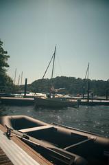 On the Docks (Linux Photography) Tags: longexposure england sun lake docks landscape boat lakedistrict flare windermere nikond5100