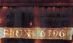 Brackish Corrosion (Junkstock) Tags: california old railroad texture abandoned industry dark typography photography photo graphics rust rivets industrial darkness graphic photos decay transport rusty trains number textures photographs numbers photograph rusted transportation type weathered aged artifact distressed corrosion artifacts decayed patina corroded relic rustyandcrusty oldstuff perris