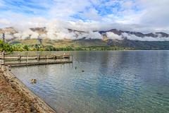 Wanaka Lake (Andrs Guerrero) Tags: centralotago newzealand nuevazelanda oceana otago otagocentral wanaka lake lago lagowanaka wanakalake mountains montaas nubes clouds agua water southisland islasur