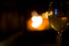 Wine by the fire (Mirror//Less) Tags: wine white fire fireplace chalet warm alcool light focus blurry bokeh