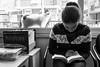 The beast behind (LivBelko) Tags: beast cat animal reading book relax blackandwhite blackwhite monochrome office