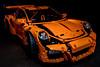 Porsche GT3RS (Ten2Ten) Tags: lego lightroomcc canoneos5dsr ef35mmf14lmkiiusm 600exrt flash flag product model porsche zuffenhausen gt3rs orange dreamcar dreamride car boystoys technic