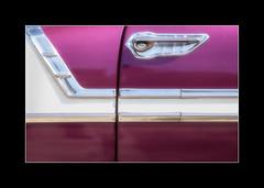 Purple detail (tkimages2011) Tags: purple detail car door handle chrome 50s 1950s classic classiccar 50scarautomotive closeup varadero cuba arty creative