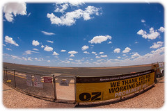 Prominent Hill Aerodrome (Craig Jewell Photography) Tags: adelaide aerodrome airport architecture australia building dusk fisheye greatvictoriadesert modern outback southaustralia sunset iso100 f56 ¹⁄₆₄₀₀sec canon canoneos5dmarkii ef15mmf28fisheye copyright2016craigjewell 29°4237s135°3138e ‒1⅓ev aperturepriority 20161215143204mg9713cr2