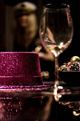 The Party's Over (Natalia Medd) Tags: party over empty wine glass hat purple color bright girl blur dof reflection night decoration goodbye