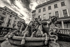 By the Gods, Old and New (Jon_Wales) Tags: cheltenham gloucestershire fountain neptune statue horses trident roman gods history england english civic art artwork