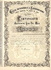 CASSA INTERINALE DI SOVVENZIONE (scripofilia) Tags: 1857 azioni cassa cassainterinaledisovvenzione interinale sovvenzione